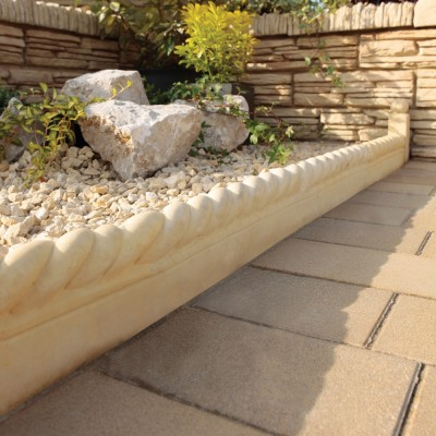 Bradstone Rope Top Edging Autumn Cotswold 450 X 160 X 50